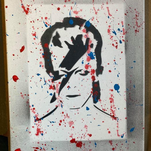 David Bowie Art by Ryan Swain