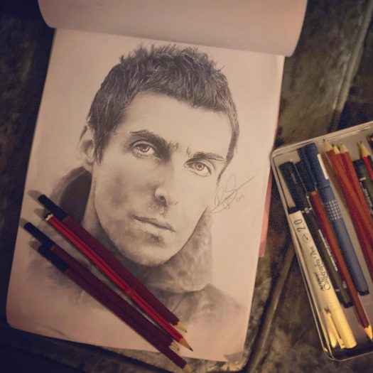 Liam Gallagher Drawing by Ryan Swain